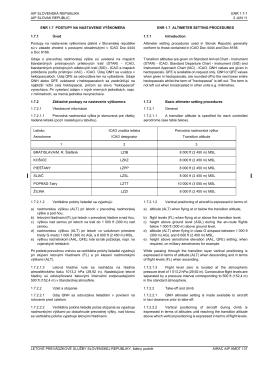 AIP SLOVENSKÁ REPUBLIKA ENR 1.7