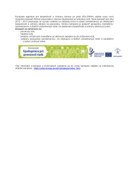 Európska agentúra pre bezpečnosť a ochranu zdravia pri