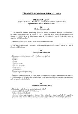 Základná škola, Gašpara Haina 37, Levoča