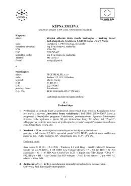 Kúpna zmluva - Szakkay József Szakközépiskola, Grešákova 1