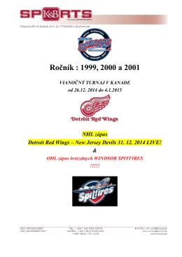 Ročník : 1999, 2000 a 2001