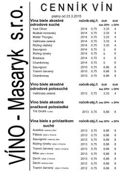 Cenník vín platný od 17.3.2015 (PDF) - VÍNO