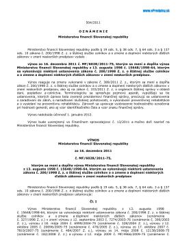 Text výnosu - Epredpisy.sk
