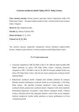 Centrum sociálnych služieb Nádej, 018 21 Dolný Lieskov