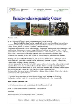 OSTRAVA - Unikátne technické pamiatky - A