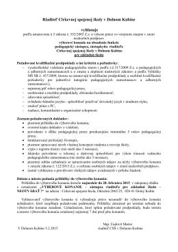 Podrobné informácie s podmienkami TU vo formáte PDF