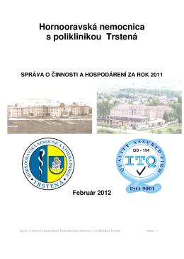 Výročná správa HNsP Trstená za rok 2011