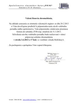 Volebný poriadok ZVB 502
