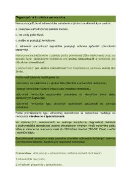 Organizačná štruktúra nemocnice - IMED-KOMM-EU