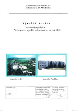 Výročná správa 2013Výročná správa 2013