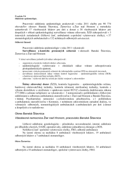 Okres Banská Štiavnica Všeobecná nemocnica Žiar nad Hronom