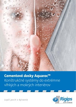 Cementové dosky Aquaroc™ Konštrukčné systémy do