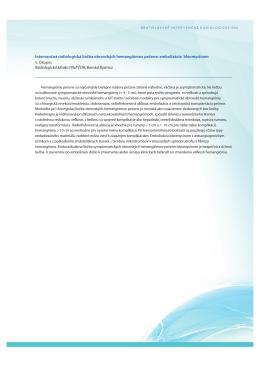 Intervenčná rádiologická liečba obrovských - skvir