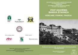 vivat akadémia banská štiavnica