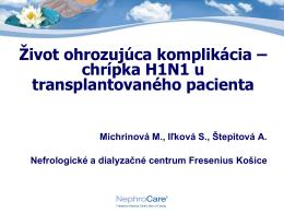 chrípka H1N1 u TR pacienta