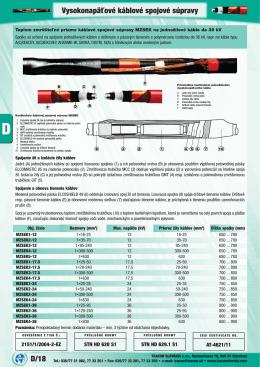 D/18 Vysokonapäťové káblové spojové súpravy