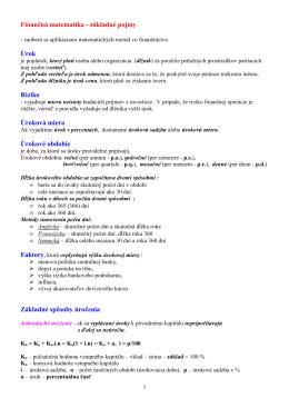 09 - Financná matematika