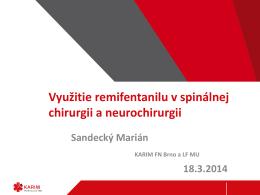 Remifentanil v spinálnej chirurgii