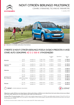 NOVÝ CITROËN BERLINGO MULTISPACE - Obnova