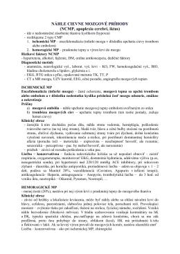 NCMP, apoplexia cerebri, iktus
