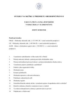 Obchodné právo I.pdf - Fakulta práva Janka Jesenského