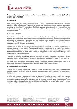 Podmienky montáže izolačných skiel (PDF)