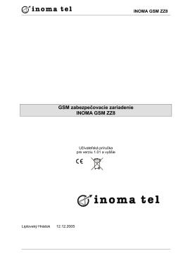 GSM zabezpečovacie zariadenie