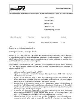 List_nasadzovanie odorantu Spisky Stiavnik