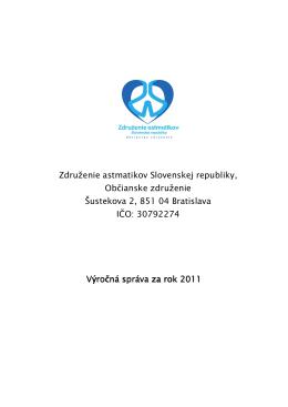 Výročná správa - Združenie astmatikov slovenskej republiky