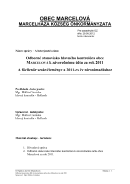 03 Správa do OZ - odborné stan k ZÚ 2011