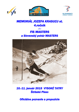 propozície - ski masters