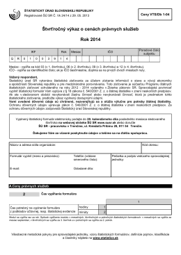 Ceny VTS/Db 1-04 - Štatistický úrad SR