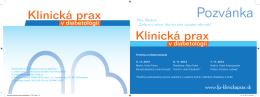 Pozvánka - fp-klinickaprax.sk