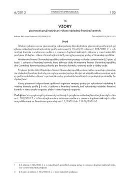Finančný spravodajca 6/2013