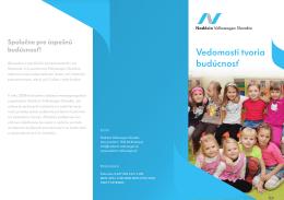 Vedomosti tvoria budúcnosť - Nadácia Volkswagen Slovakia