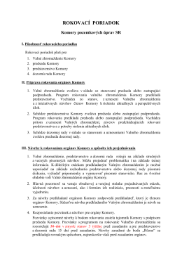 návrh zmeny rokovacieho poriadku