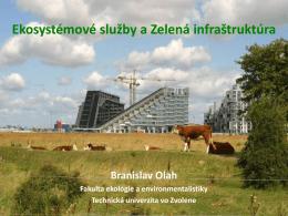 Branislav Olah: Ekosystémové služby a zelená infraštruktúra