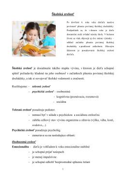 Školská zrelosť - Szsmajaba.edu.sk
