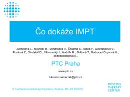 Čo dokáže IMPT (Zámečník Ľ., Praha)