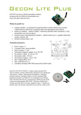 GSM komunikátor Gekon lite plus - KomBit