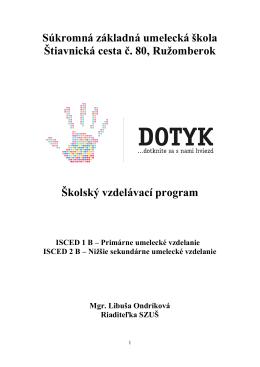 Súkromná základná umelecká škola Štiavnická cesta č. 80
