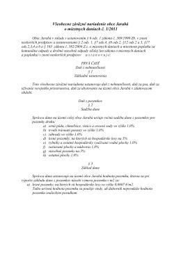 Všeobecne záväzné nariadenie obce Jarabá