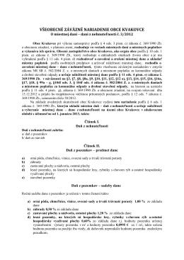 dani z nehnuteľností č. 3 2012