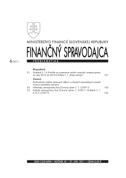 Finančný spravodajca 6/2011