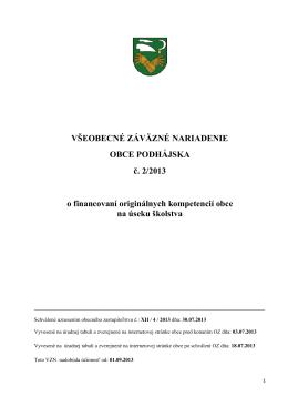 VZN č. 2_2013 o financovaní originálnych