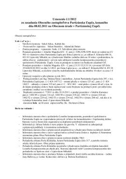 Uznesenie Obecného zastupiteľstva 1/2012