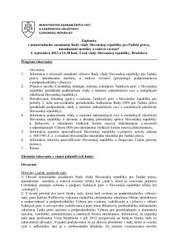 Zápisnica z mimoriadneho zasadnutia Rady vlády Slovenskej