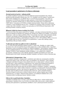 Hájnik 3/2014 - Lesné pozemkové spoločenstvo Svrčinovec