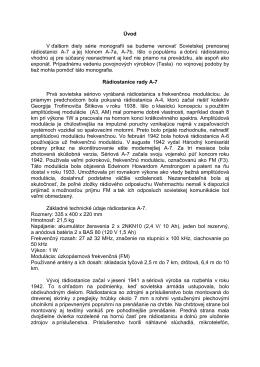 Rádiostanice rady A-7 - ukázka