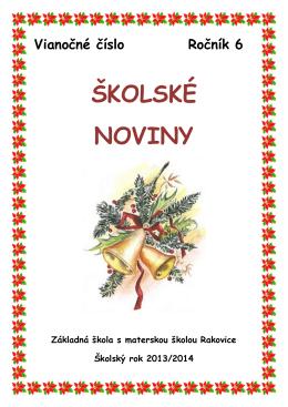 ŠKOLSKÉ NOVINY - Základná škola s materskou školou Rakovice
